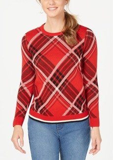 Charter Club Petite Plaid Sweater, Created for Macy's