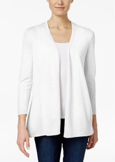 Charter Club Petite Pleated-Back Open-Front Cardigan, Created for Macy's