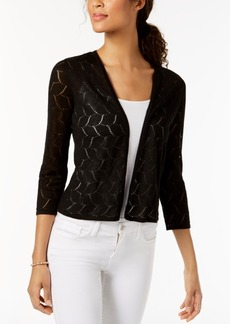 Charter Club Petite Pointelle Cardigan, Created for Macy's
