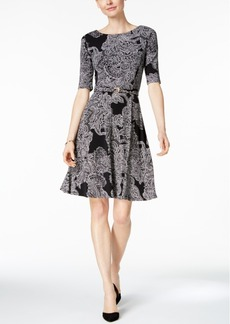Charter Club Paisley-Print Fit & Flare Dress, Only at Macy's