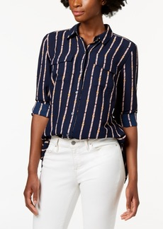 Charter Club Petite Printed Blouse, Created for Macy's