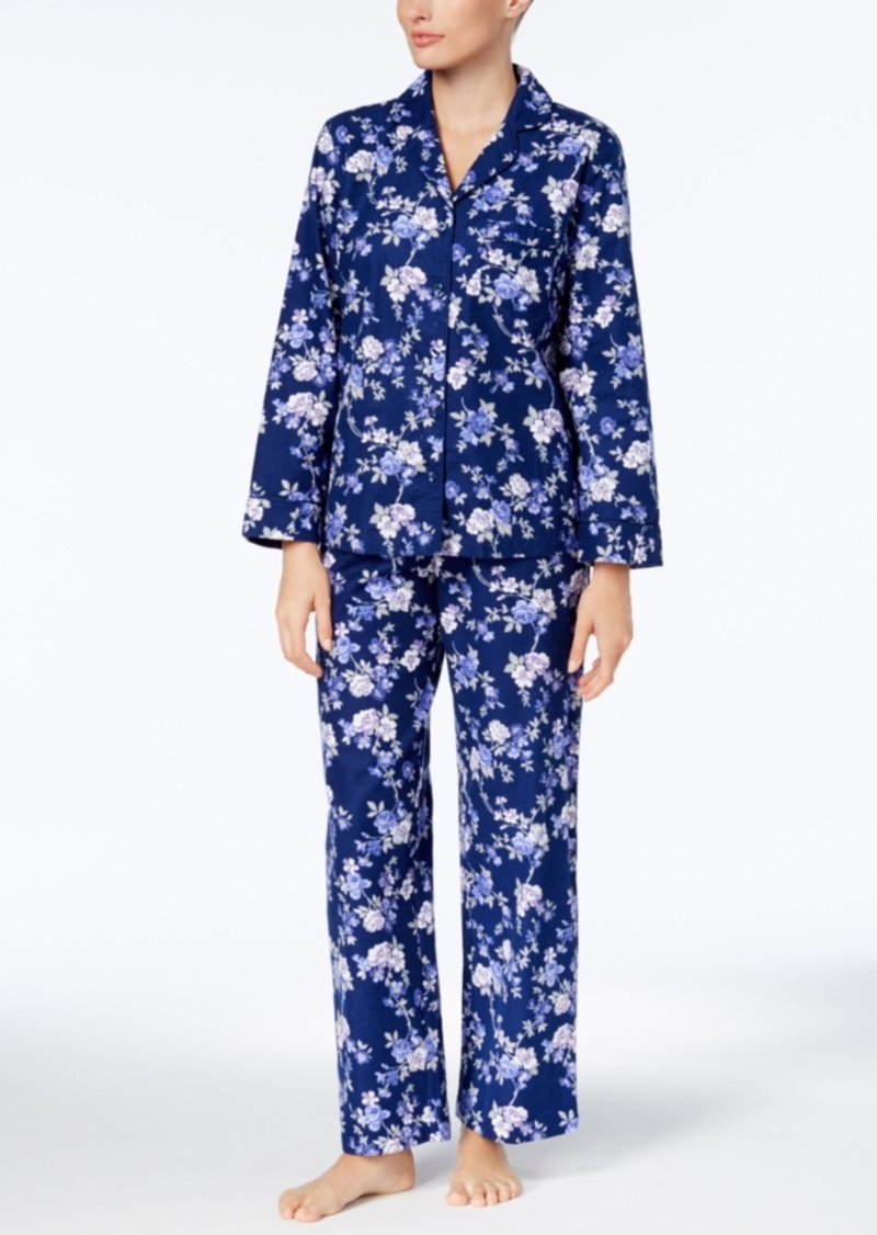 75f6a89333dc Charter Club Petite Printed Cotton Flannel Pajama Set, Created for Macy's