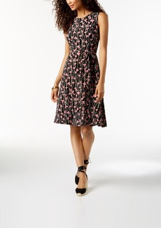 Charter Club Petite Printed Fit & Flare Midi Dress, Created for Macy's