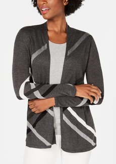 Charter Club Petite Printed Open-Front Cardigan, Created for Macy's