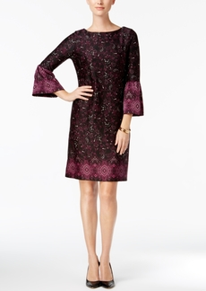 Charter Club Printed Ruffled-Sleeve Dress, Created for Macy's