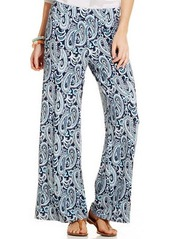 Charter Club Petite Printed Wide-Leg Pants