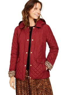 Charter Club Petite Quilted Hooded Jacket