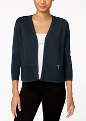 Charter Club Petite Ribbed Hem Cardigan, Created for Macy's