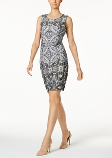 Charter Club Petite Scarf-Print Sheath Dress, Created for Macy's