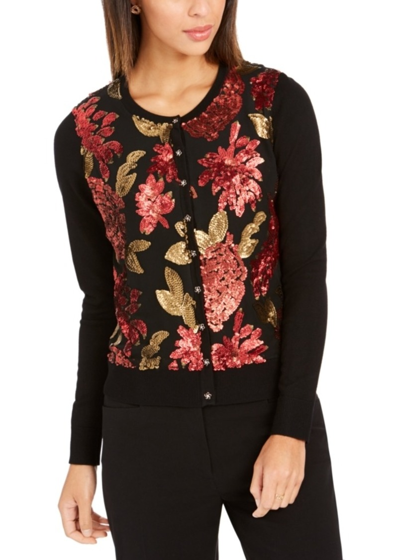 Charter Club Sequined Cardigan, Created For Macy's