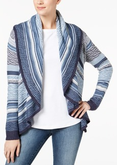 Charter Club Striped Shawl Collar Cardigan, Created for Macy's