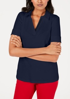 Charter Club Petite Short-Sleeve Cotton Polo Shirt, Created for Macy's