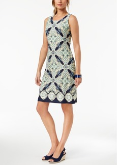 Charter Club Petite Sleeveless Printed Dress, Created for Macy's