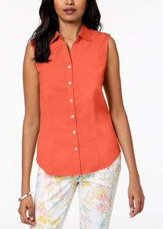Charter Club Petite Sleeveless Shirt, Created for Macy's