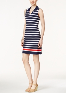 Charter Club Petite Sleeveless Striped Dress, Only at Macy's
