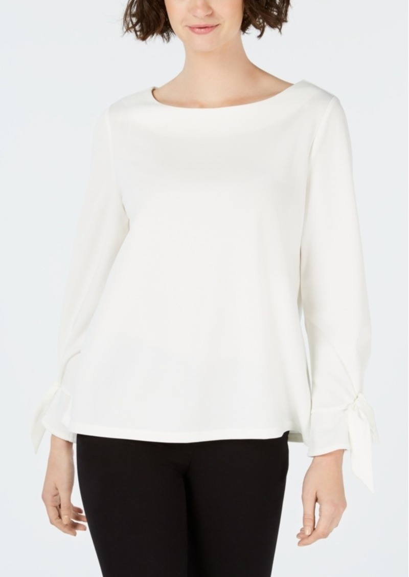 1e042df8 Charter Club Charter Club Petite Tie-Cuff Blouse, Created for Macy's ...