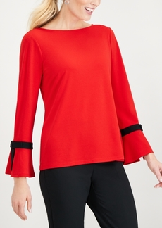 Charter Club Petite Tie-Detail Sweater, Created for Macy's