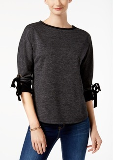 Charter Club Petite Tie-Sleeve Top, Created for Macy's