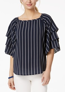 Charter Club Petite Tiered-Sleeve Top, Created for Macy's