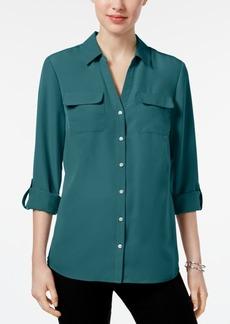 Charter Club Petite Utility Blouse, Created for Macy's