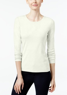 Charter Club Pima Cotton Long-Sleeve Top