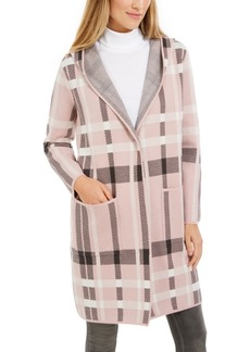Charter Club Plaid Coatigan Jacket, Created For Macy's