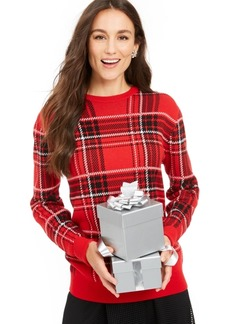 Charter Club Plaid Crewneck Family Sweater, Created For Macy's