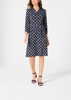 Charter Club Plaid Polo Shirtdress, Created for Macy's