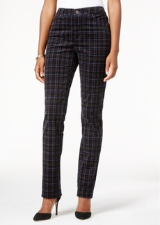 Charter Club Plaid Printed Lexington Corduroy Straight Leg Pant, Only at Macy's