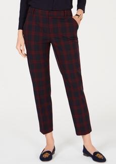 Charter Club Plaid Slim-Leg Ankle Pants, Created for Macy's