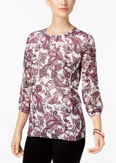 Charter Club Pleat-Back Blouse, Created for Macy's