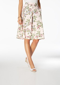 Charter Club Pleated Floral-Print Skirt, Created for Macy's