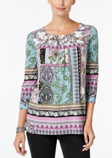 Charter Club Pleated Printed Tunic, Only at Macy's
