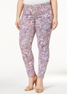 Charter Club Plus Size Bristol Paisley-Print Ankle Jeans, Only at Macy's