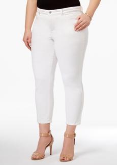 Charter Club Plus Size Bristol Tummy-Control Capri Jeans, Created for Macy's