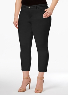 Charter Club Plus Size Bristol Tummy-Control Capri Jeans, Only at Macy's