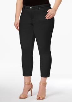 Charter Club Plus Size Bristol Tummy-Control Capri Jeans, Only at Macy's