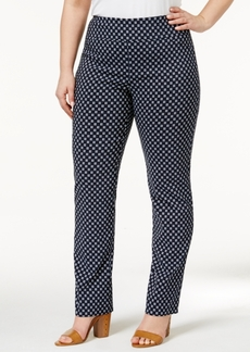 Charter Club Plus Size Cambridge Geometric-Print Pants, Only at Macy's