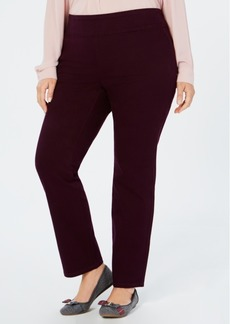 Charter Club Plus Size Cambridge Pull-On Pants, Created for Macy's