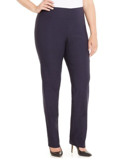 Charter Club Plus & Petite Plus Size Cambridge Tummy-Control Pull-On Pants, Created for Macy's