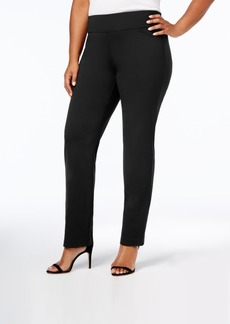 Charter Club Plus Size Cambridge Tummy-Control Pull-On Ponte Pants, Created for Macy's