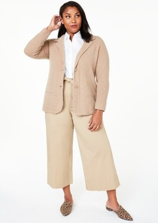 Charter Club Plus Size Cashmere Blazer, Created for Macy's