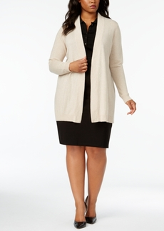 Charter Club Plus Size Cashmere Duster Cardigan, Created for Macy's