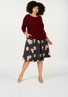 Charter Club Plus Size Cashmere Scoop Neck Sweater, Created for Macy's