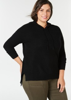 Charter Club Plus Size Pure Cashmere Thermal Hoodie, Created for Macy's