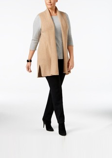 Charter Club Plus Size Cashmere Vest, Only at Macy's