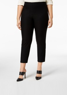Charter Club Plus Size Chelsea Tummy-Control Skinny Leg Ankle Pants, Created for Macy's