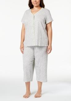 252c5e6b2531 Charter Club Plus Size Cotton Picot-Trim Pajama Set, Created for Macy's