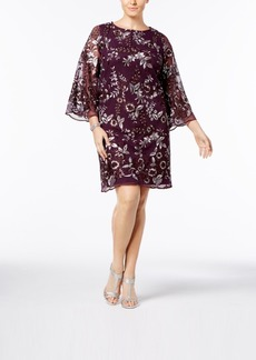 Charter Club Plus Size Embroidered Mesh Shift Dress, Created for Macy's
