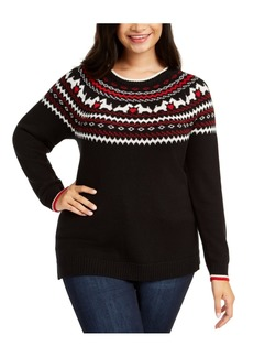 Charter Club Plus Size Fair-Isle Printed Sweater, Created For Macy's
